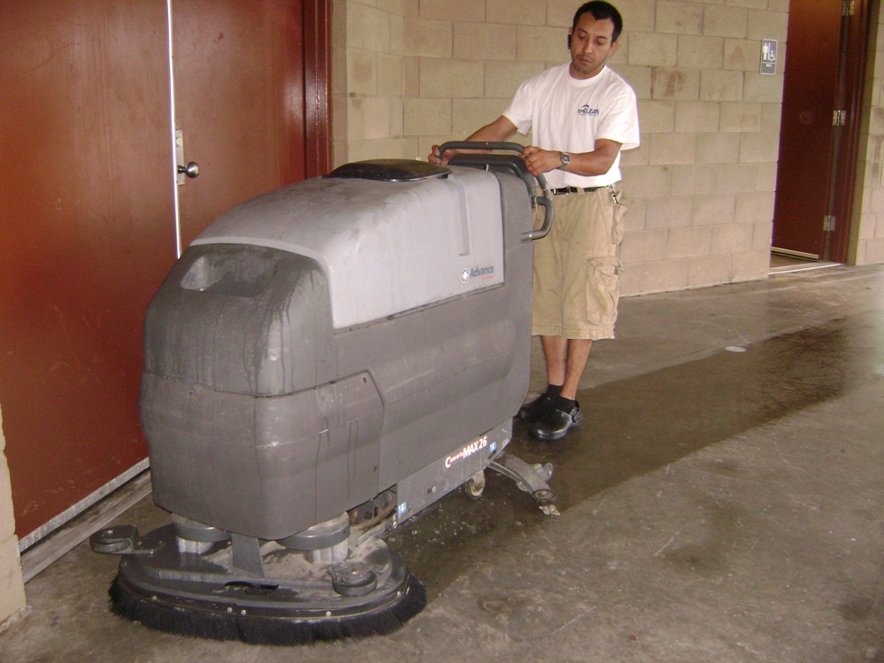 Concrete sealing triclean for Concrete floor cleaning products